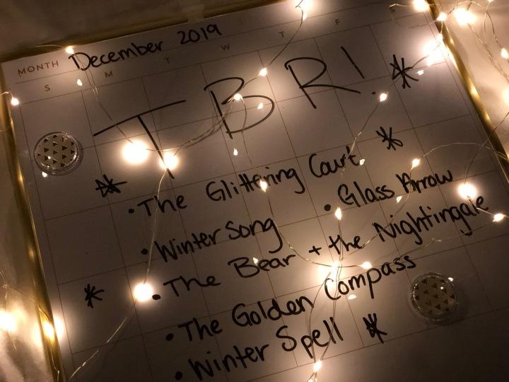 December 2019 TBR